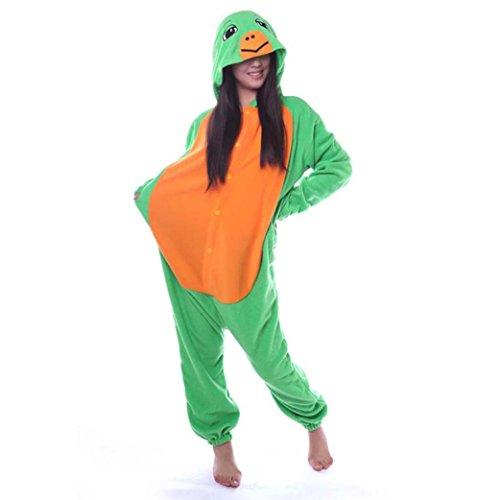 Venaster Jumpsuits, Cosplay Pyjamas Schildkröte Erwachsene Unisex Animal Cosplay Overall Pajamas Anime Schlafanzug Spielanzug Kostüme (Für Erwachsene Schildkröten Kostüm)