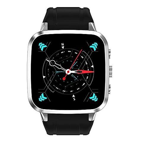2017 N8 Smart Watch HD Kamera Big Screen Herzfrequenz Schlaf Monitor 3G Android5.1 Wifi GPS Positionierung Telefon Uhr , silver
