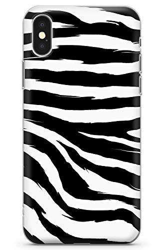 Case Warehouse iPhone XS MAX Schwarzer Zebra-Druck Schutz Gummi Handyhülle TPU Bumper Tierdruck Katze Wild Zebra Gepard
