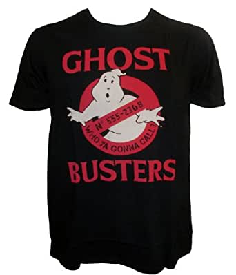 Official Ghostbusters Who Ya Gonna Call Logo Adult T-Shirt (Small)