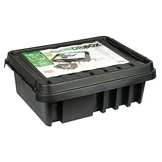 Rotpfeil FL1859330B Wetterfeste Box Anschlußkasten für elektrische Geräte und Kabeln, IP55, Schwarz