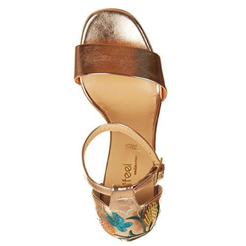 Sandali con tacco ORO Oro