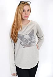Cute Dog Animal Print Sweatshirt With Pockets
