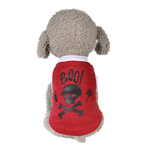 de Bekleidung Mini Hündchen Welpe Winter Warme Süß Modisch Halloween Drucken Hundemantel Sweater Gemütlich Weich Elastisch Hundejacke Shirt ()