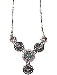 Pilgrim, collar antique plata y violeta pilgrim ref 615121