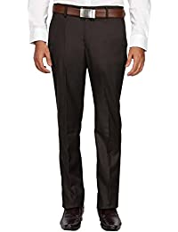 Peter England Mens Slim Fit Solid Formal Trousers