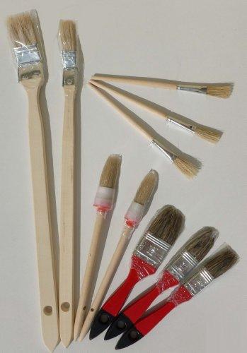 Pinsel Set 10 Teile Malerpinsel Heizkörperpinsel Flachpinsel Rundpinsel