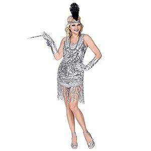 WIDMANN 08723para mujer Disfraz 20años Charleston, mujer, plata