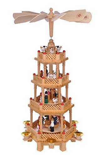 gro e weihnachtspyramide pyramide weihnachten 4 st ckig ca. Black Bedroom Furniture Sets. Home Design Ideas