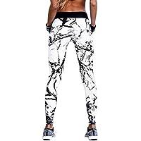 DEELIN Leggings Damen Yoga Fitness Drucken Workout Leggings Fitness Sport Gym Laufen Yoga Sporthose