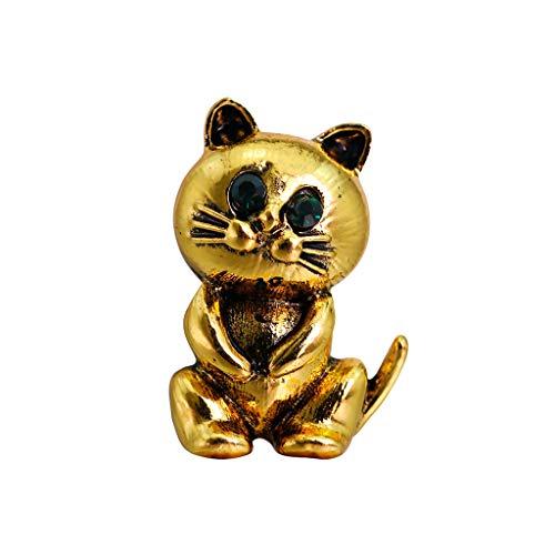 MiMiey Goldene Katzenbrosche Silberne Katzenbrosche Zarte und schöne Brosche