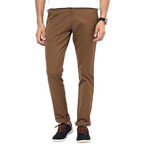 BUKKL-Dark-Brown-Slim-Fit-Casual-Trouser
