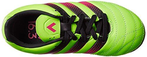 adidas Jungen Ace 16.3 Tf J Leather Sneaker Verde (Versol / Rosimp / Negbas)
