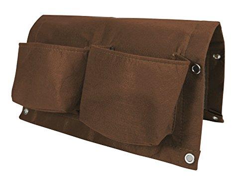 bloembagz Deck Schiene Viertaschen-Aufhängen Übertopf Tasche, Schokolade (otr2–45)