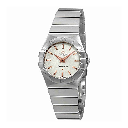Omega Constellation White Opaline-Silvery Dial Ladies Watch 123.10.27.60.02.004
