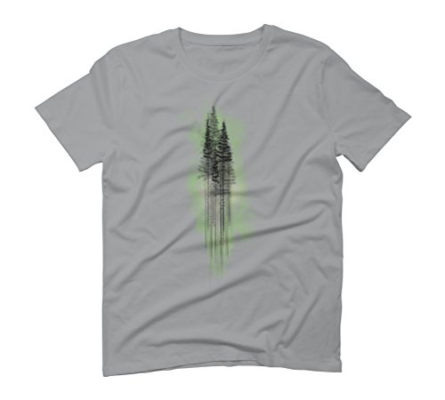 Watercolour PineTree Forest Green Men's Graphic T-Shirt - Design By Humans Opal