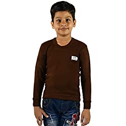 Rupa BOILER Kids Unisex Round Neck Full Sleeves Premium Thermal (Colour: Brown) (Size:26 Inch) (Age:3-5 YEAR)