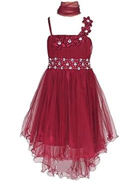 Sin mangas Vestido tul vestido de fiesta para niña vestido de madrina vestido de ahijada para 6 - 12 años.