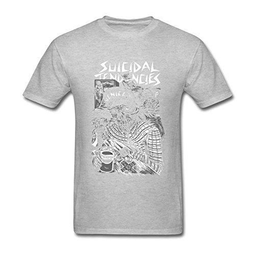 BlessVanish Men's Suicidal Tendencies Band Skull T Shirt S