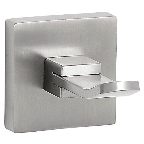Modernes flach Nickel gebürstet Badezimmer Sauber Linien & Zubehör | Premium Qualität Edelstahl | Satin Finish Wand montiert modernes Design, metall, Hook -