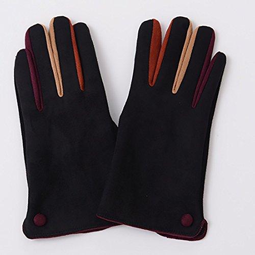 Gestrickte Handschuhe Handschuhe für Frauen Winterverdickung Warme Touchscreen-Handschuhe Studenten Reiten im Freien Reisen Warme Handschuhe Eine Vielzahl von Farben sind verfügbar Warme Handschuhe ( Farbe : C )