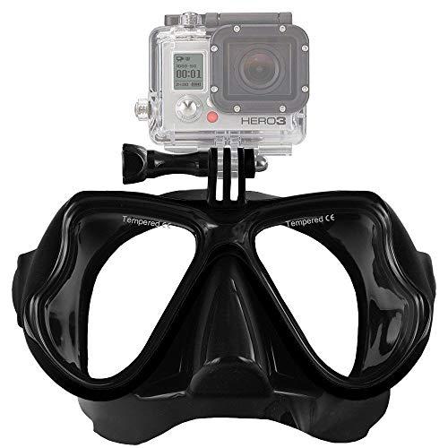ALIXIN-kompatibel mit Gopro Unterwasserfotografie Tauchmaske,rahmenloser Panorama Weitsicht Tauchmaske,Trockenschnorchelset Tauchmaske,Zubehör für Erwachsenenberufungstauchen und Schnorcheln.