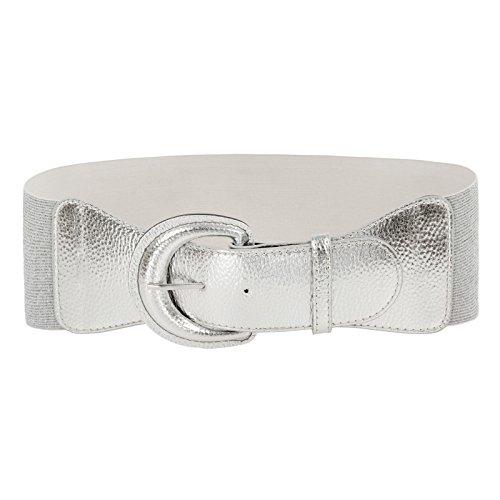 GRACE KARIN Cintura da Donna Elastica Regolabile con Fibbia PU Obbiettivo Multiplo
