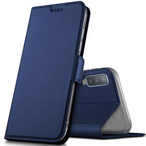 GeeMai Samsung Galaxy A7 2018 Hülle, Samsung Galaxy A7 2018 Leder Hülle Flip Case Wallet Stylish mit Standfunktion Schutzhülle handyhüllen passt für Samsung SM-A750F Galaxy A7 2018 Phone.