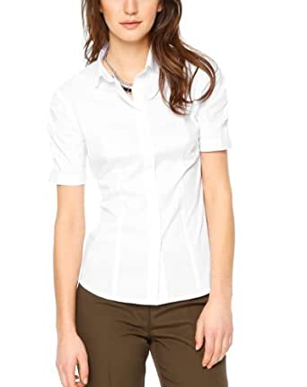 SIR Oliver Damen Regular Fit Bluse 11.403.12.7465, Gr. 42, Weiß