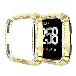 bloatboy – Custodia Protettiva per Fitbit Versa/Lite Watch, Ultra Sottile, Lussuosa Pellicola Protettiva per Display