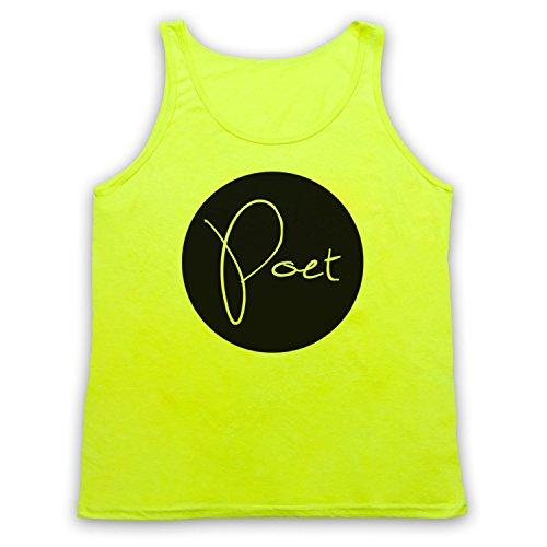 Poet Hipster Tank-Top Weste Neon Gelb
