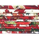 Always Knitting and Sewing - 10 morceaux de tissus - mélange de Noël - 100% coton 25cm x 25cm