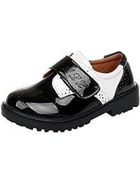 7c9a33e77 hibote Zapatos Oxford para Niño - Zapatos de Vestir Formales de Fiesta de  la Escuela Negra para Niños…