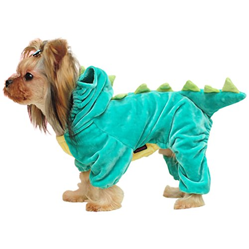 dulee Pet Cosplay Dinosaurier Kleidung Cool Halloween Weihnachten Pet Kleid Up 3D Verklärung Kleidung