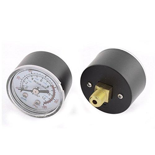 sourcingmap 1/8 BSP filettatura maschio 0-180PSI 0-12Kg / cm2 compressore d'aria manometro di pressione 2pz