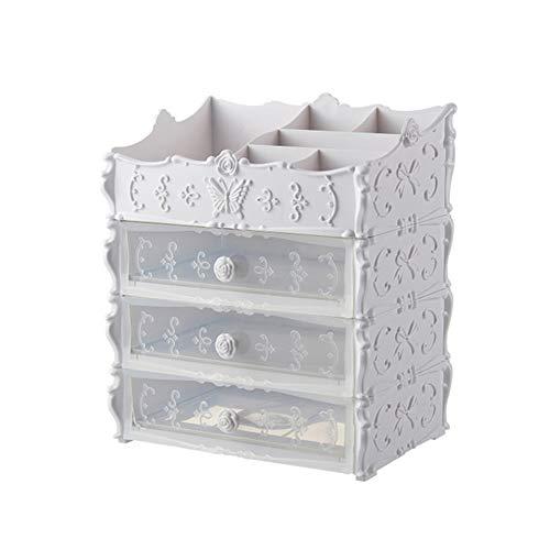 Ysy Desktop Cosmetics Aufbewahrungsbox Exquisite Butterfly Multifunktionsschublade Großes Rack Schlafzimmer Badezimmer,E -