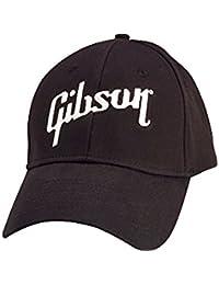 Gibson Gear GA-BLKC Casquette avec logo Brode