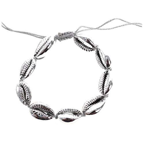 Les Trésors De Lily [Q5783 - Ethnisches Armband (GGrraaiinn ddee CCaaff) Silber (Schale).