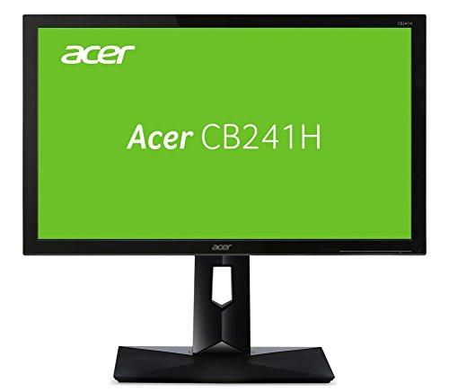 Acer CB241HB 24 inch Wide screen Monitor (Full HD, LED, 1 ms, 250nits, DVI, HDMI, Height Adjust, Pivot) - Black