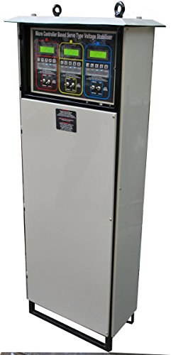 Servo Voltage Stabilizer 15kva, Three Phase With Lcd (green Dot)