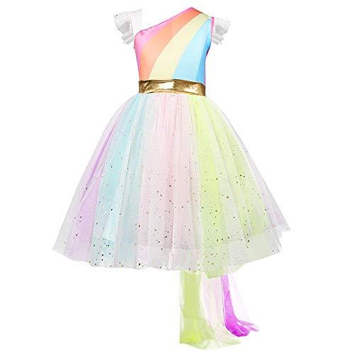cinnamou Kind Mädchen Lace Rainbow Princess Hochzeits Kleid Geburtstag Kleid Party Dress