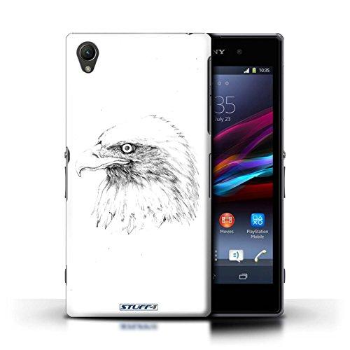 Kobalt® Imprimé Etui / Coque pour Sony Xperia Z1 / éléphant conception / Série Dessin Croquis Aigle / Oiseau