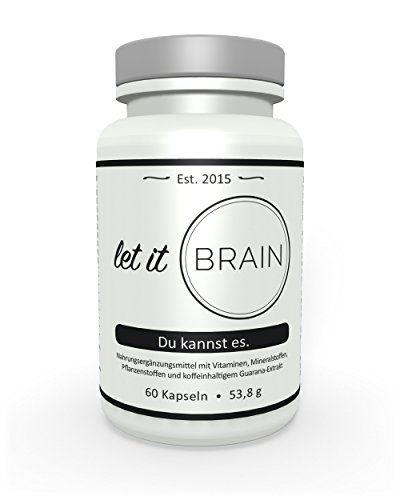 Let it Brain - Du kannst es - Der vegane Boost - Mit komplexer Formel für Gehirn, Geist und gegen Müdigkeit - 60 Kapseln