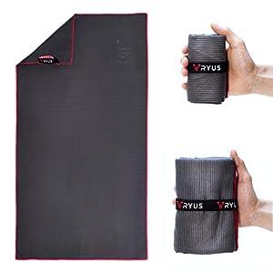 RYUS® UltraDry – Mikrofaser-Handtuch [mit Struktur] Sporthandtuch, schnelltrocknend und antibakteriell für Sport…