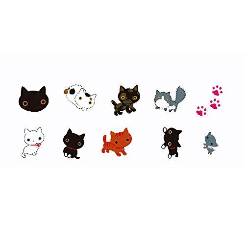 Pinzhi 80 stücke DIY Nette Kawaii Katze Mini Scrapbook Label Aufkleber Notebook Tagebuch Tag - Foto Album Kawaii