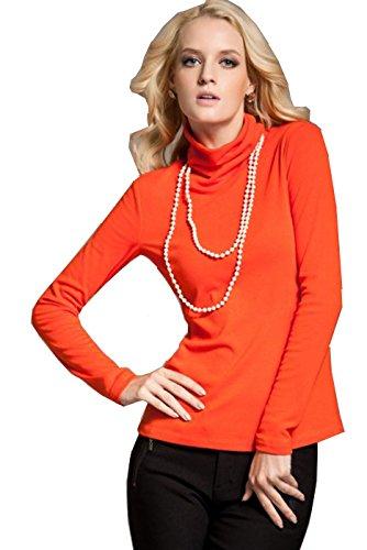 elegance1234 -  Maglia a manica lunga  - Donna Arancione