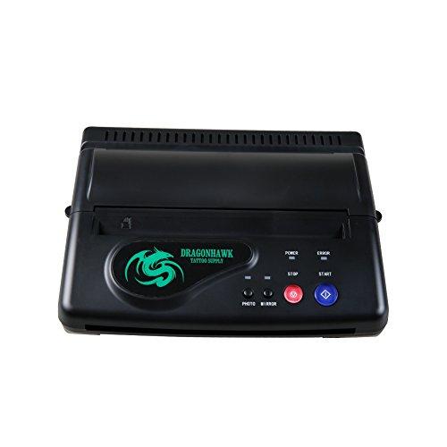 Black Thermal Power Supply (Dragonhawk Black Tattoo Transfer Stencil Machine Thermal Copier Printer Machine ZY003-2)