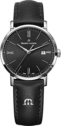 Maurice Lacroix Damen Analog Quarz Uhr mit Leder Armband EL1084-SS001-313-1