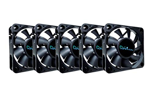Apevia LED-Gehäuselüfter, 120 mm, 4-polig + 3-polig, 5 Stück CF6015S-5 (Desktop-fan 4-polig-computer)