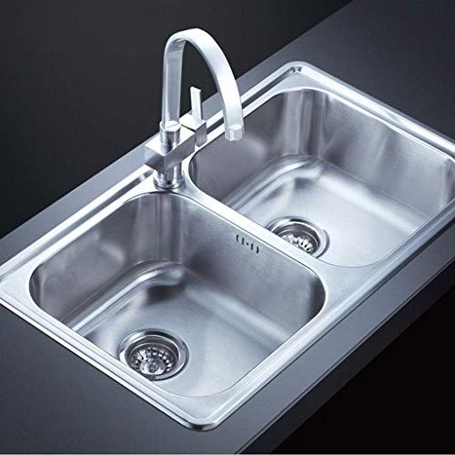 ADWN Edelstahl Kitchen Sink Double Bowl Advanced handgefertigten Design Rechteckige leicht zu säubern Waschbecken Waschbecken -